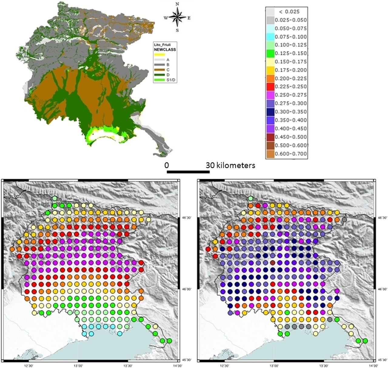 Site classification map of Italy based on surface geology